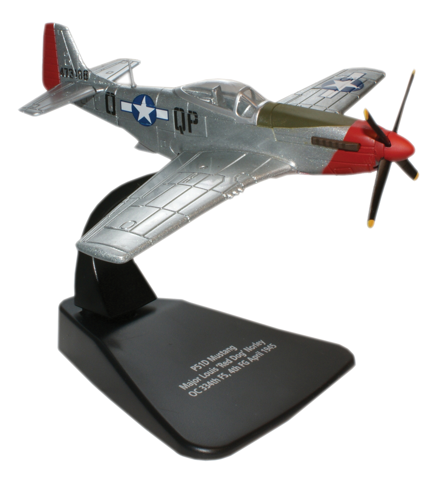 "P-51D 1/72 ""Red Dog XII,"" Maj. Louis ""Red Dog"" Norley, (AC021)"